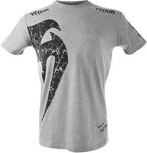 Venum Giant Short Sleeve T-Shirt - Gray/Black