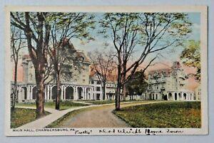 Main Hall Chambersburg Pennsylvania David Kaufmann Vintage WB Postcard 9032