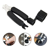 Guitar Tuner Winder String Cutter Pin Puller 3 in 1 for Electric Bass Ukulele