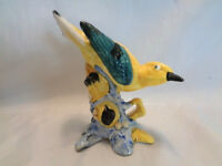 VINTAGE STANGL POTTERY BIRD #3447- YELLOW  WARBLER- SUPERB