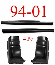 94 01 Dodge 4Pc Regular Cab Slip-On Rocker & Cab Corner Set, 2 Door Ram Truck