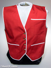 Vest Red & White Unisex Accessory Holiday Vest