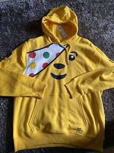 Children In Need Pudsey Bear Hodded Top Size XL