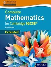 Extended Mathematics for Cambridge IGCSE by David Rayner (2014, Paperback, Stude