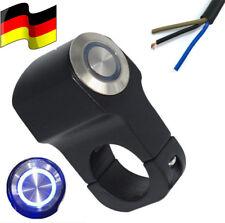 Neu!! 22mm Alu LED Motorrad Lenkerhalterung Schalter Drucktaster Schwarz