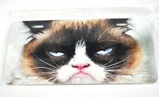 Grimmige Katze blaue Augen USA Auto Nummernschild License Plate Deko Blechschild