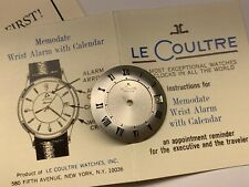 lecoultre memodate wristalarm calendar dial in great original condition
