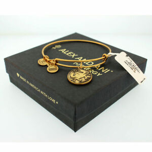 Authentic Alex And Ani Cancer Charm Bangle Russian Gold, A13EB01CNRG