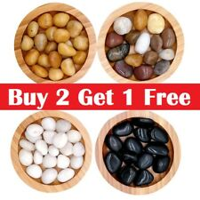 More details for 1kg polished river stone pebbles decorative water features/garden/ landscaping