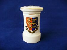 Early 20th c Crested Ware Letter Box  - English Crested China - Hastings