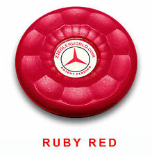4 LARGE REPLACEMENT AMERICAN SHUFFLEBOARD PUCK CAP TOPS - RUBY RED COLOR