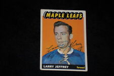 LARRY JEFFREY 1965-66 TOPPS ROOKIE SIGNED AUTOGRAPHED CARD #83 MAPLE LEAFS