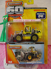 2013 Matchbox 60th Comm #03 QUARRY KING loader  w/box ~Yellow w/chrome Bucket~