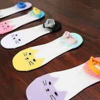 Ladie Summer Cartoon Cotton Bottom Socks Invisible Breathable Cute Kitten Socks