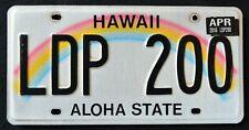 "HAWAII "" ALOHA STATE "" RAINBOW - LDP 200 "" 2016 HI Island Graphic License Plate"