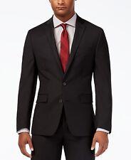 $450 Ryan Seacrest men Black Wool Fit 2 Button Suit Jacket Blazer Sport Coat 38L