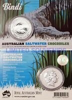 2013 1oz Silver Proof 99.5% Saltwater Crocodile BINDI 'Steve Irwin's Favourite'