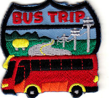 """BUS TRIP"" - Iron On Embroidered Patch/School, Vehicle, Children,Vacation"