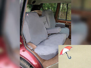 LAND ROVER RANGE ROVER CLASSIC 1987-1995 REAR WATERPROOF SEAT COVERS SET SAND