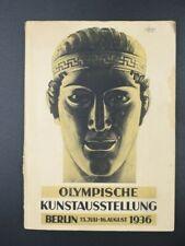 Rare Berlin 1936 Olympics Art Exhibition Catalog Olympische Kunstausstellung