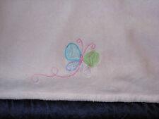 CARTERS BABY GIRL PINK PLUSH FLEECE BLANKET BUTTERFLY GREEN BLUE PURPLE