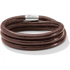 NWT Brighton WOODSTOCK Bronze Brown Metallic TRIPLE Leather Bracelet MSRP $60