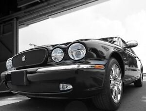 Jaguar XJ8 & XJR Black Mesh New Style Growler Grille and Lower Mesh Grille PKG 2