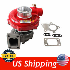 T04E T3/T4 .63 A/R 57 TRIM RED HOUSING TURBO COMPRESSOR 400+HP BOOST STAGE III