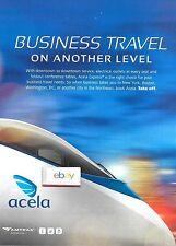 AMTRAK USA NATIONAL RAILROAD 2013 ACELA FAST TRAIN BUSINESS TRAVEL NEW LEVEL AD