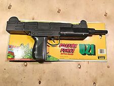 FoxFire Force Toy Uzi Gun New On Package Board VTG.