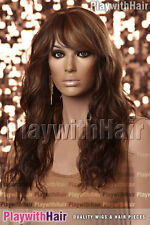 Softly Tousled Sweeping Long HEAT FRIENDLY Lace Front Wig Three Tone Brown