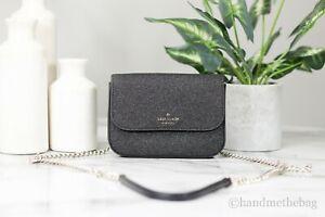 Kate Spade Lola Glitter Black Belt Bag Convertible Crossbody Handbag Gift Box