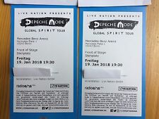 2 Tickets - Depeche Mode 19.01.2018 Berlin - Front of Stage FOS