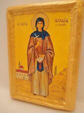 Saint Aglaia Aglaea Aglae Aglaya Aglaja of Rome Rare Greek Orthodox Icon on Wood