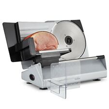 VonShef Stainless Steel Meat Slicer Specialist Cutting Machine for Meats Cheese