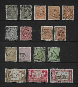 NETHERLANDS INDIES nice lot of early used values (16)