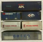 Athearn/Walthers HO Scale 40 and 20 Containers weathered to a high standard