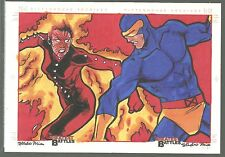 2013 Marvel Greatest Battles Studio Mia 2-CARD COLOR SKETCH Very Limited