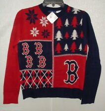 MLB NWT BUSY BLOCK UGLY SWEATER YOUTH - BOSTON RED SOX- SMALL