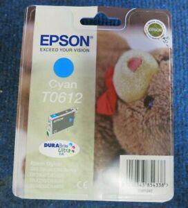 New Epson T0612 Singlepack Cyan DuraBrite Ultra Inkjet Ink Cartridge