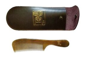 Ox Horn Comb  - 1 Pcs With Leather Bag (Sun And Moon By Grace)