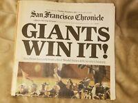 San Francisco Chronicles2010 Giants World Series Newspaper (Giants win it!)