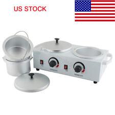 Double Pot Wax Warmer Electric Heater Dual Hot Skin Care Equipment SPA