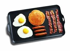 Outdoor 2 Burner Griddle Frying Breakfast Nonstick Cooking Camping Beach NEW