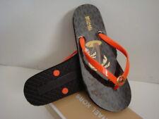 New Michael Kors Shiny Flip Flop Orange/Mimos/Brown Size 7