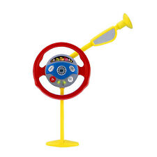 Kids Back Seat Car Steering Wheel Toys Driving Game Horn Sounds Electronic New