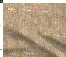 Floral Antique Spring Neutral Damask Turkish Spoonflower Fabric by the Yard