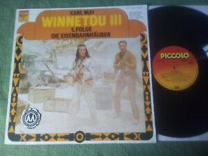 LP: KARL MAY - Winnetou III - Die Eisenbahnräuber 1. Folge - PICCOLO - Selten