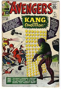 Avengers #8 - Stan Lee and Jack Kirby - 1st appearance of Kang the Conqueror