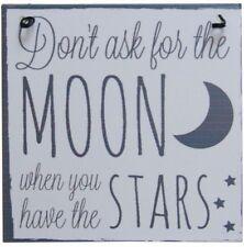 LUNA e retro in metallo da appendere segnale ~ non chiedere la luna